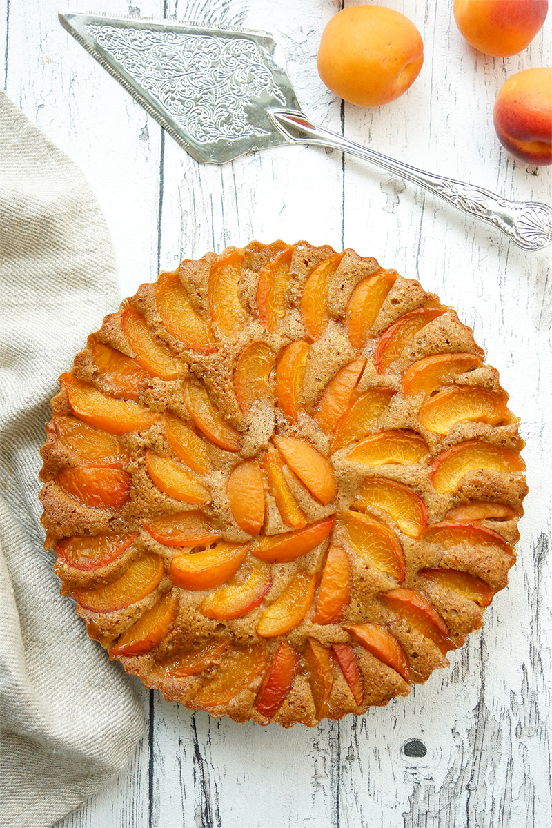 Apricot Tart Recipe with Buttermilk and Cardamom