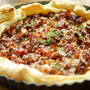 Caramelised Shallot Tart with Prosciutto