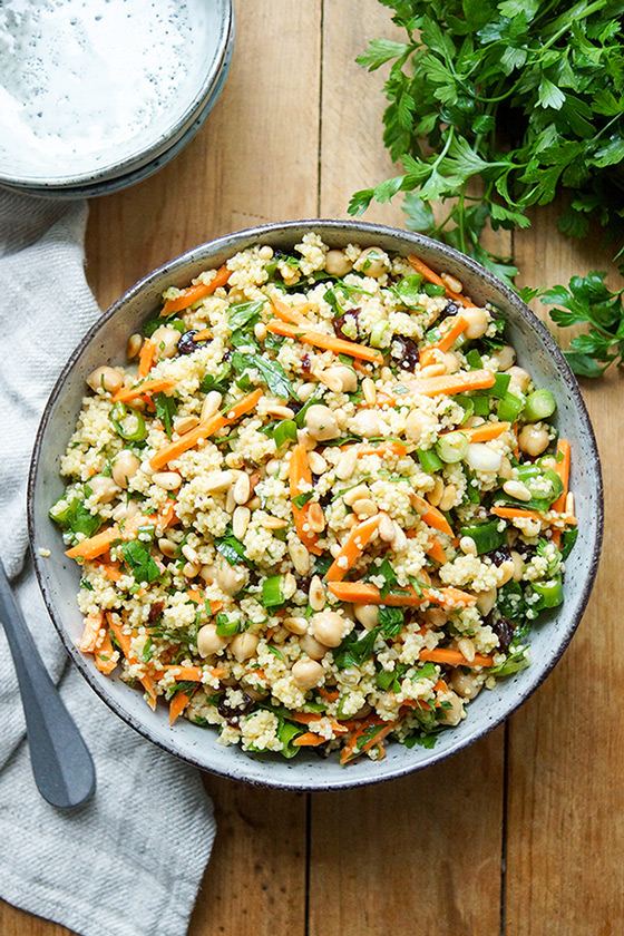 Morroccan-Style Millet Salad with Chickpeas & Carrots