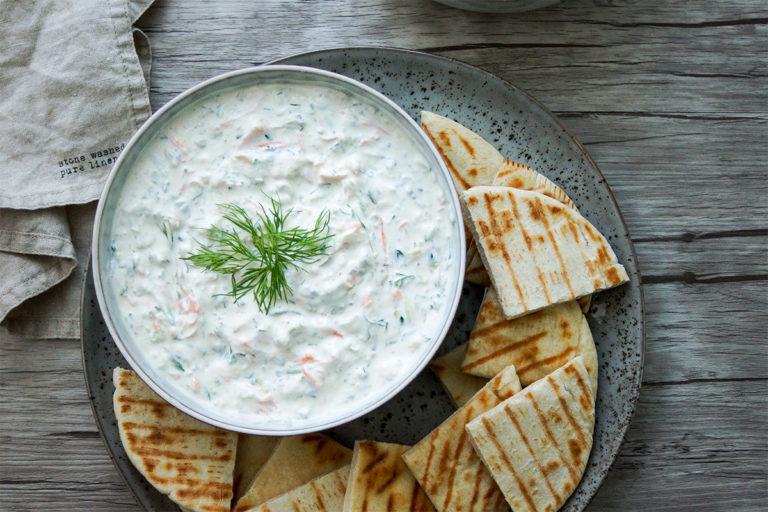 Favorite Original Tzatziki (Greek Yogurt Cucumber Dip)