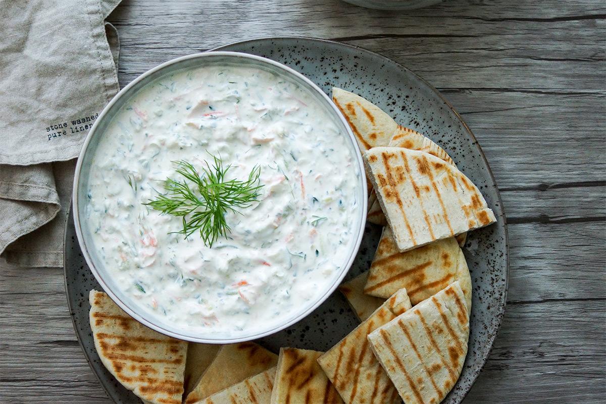 Original griechisches Tzatziki mit Karotte Rezept