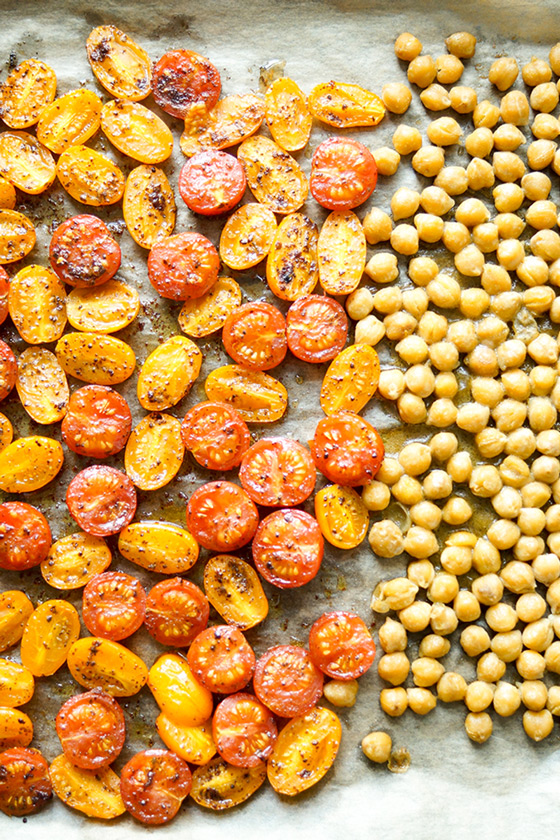 Roasted Tomatoes and Chickpeas