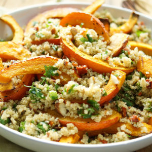 Roasted Pumpkin and Quinoa Salad with Almonds
