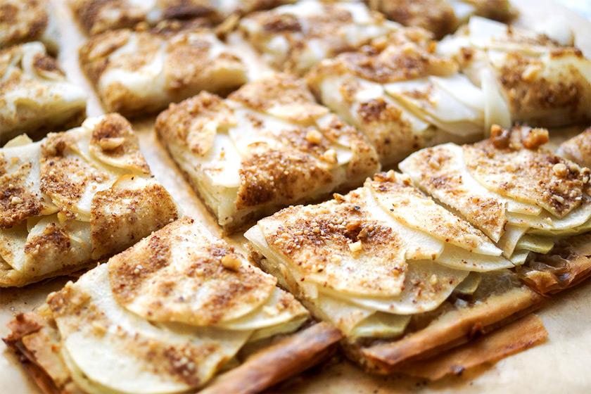 Filoteig Tarte mit Apfel und Birne Rezept