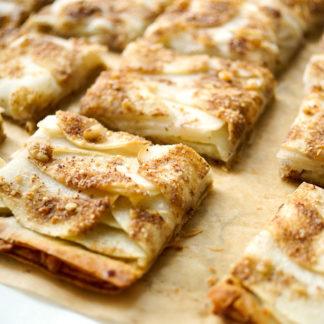 Einfache Filoteig Tarte mit Apfel und Birne Rezept