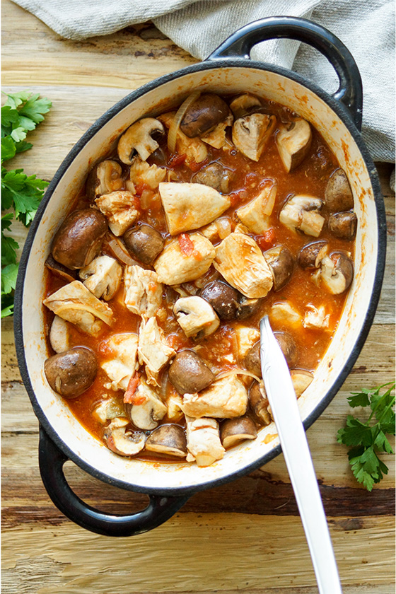 Autumn Chicken and Mushroom Stew