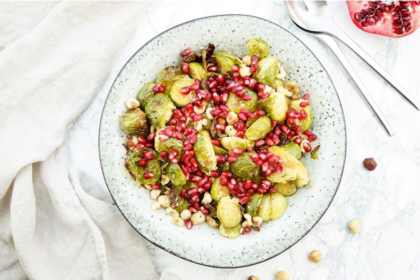 Rosenkohl mit Haselnüssen und Granatapfel Rezept