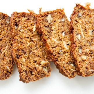 Walnuss-Dattel-Brot mit Hokkaido Kürbis vegan + glutenfrei