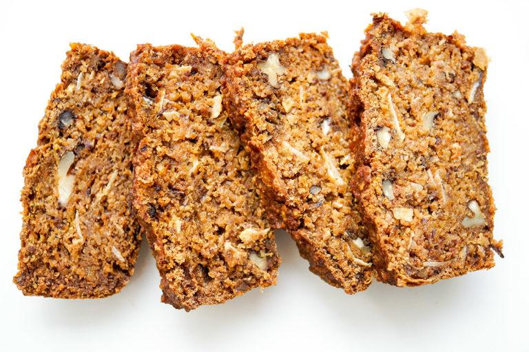 Walnut Date Loaf with Hokkaido (Vegan + GF)
