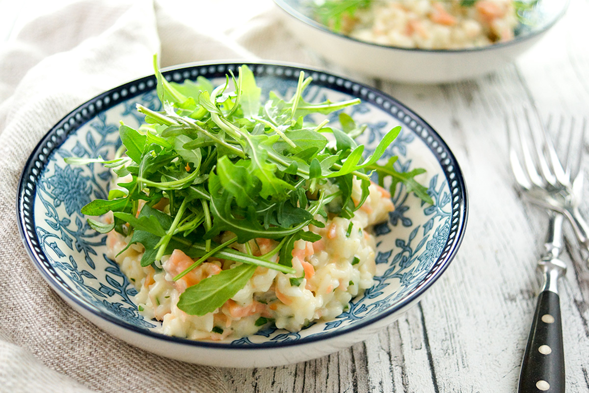 Smoked Salmon Risotto‏