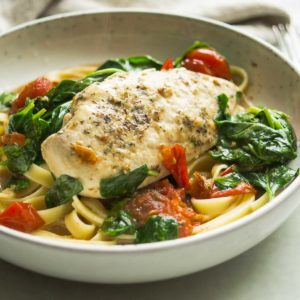 Coconut Chicken with Tomatoes & Spinach