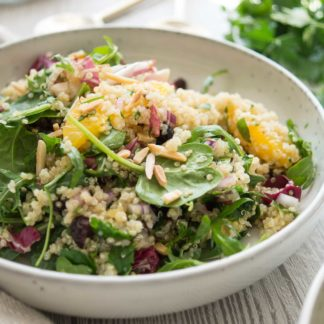 Quinoa Salad with Orange, Mint, Parsley & Almonds
