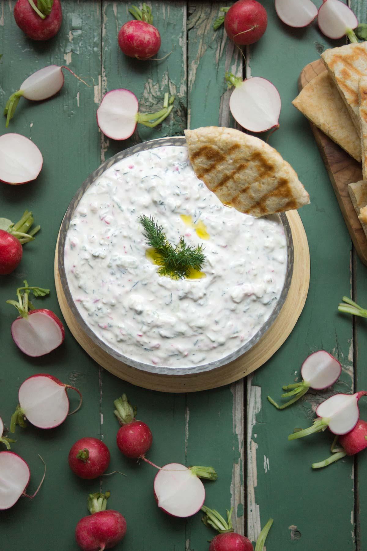original griechisches Gurken Radieschen Tzatziki Rezept