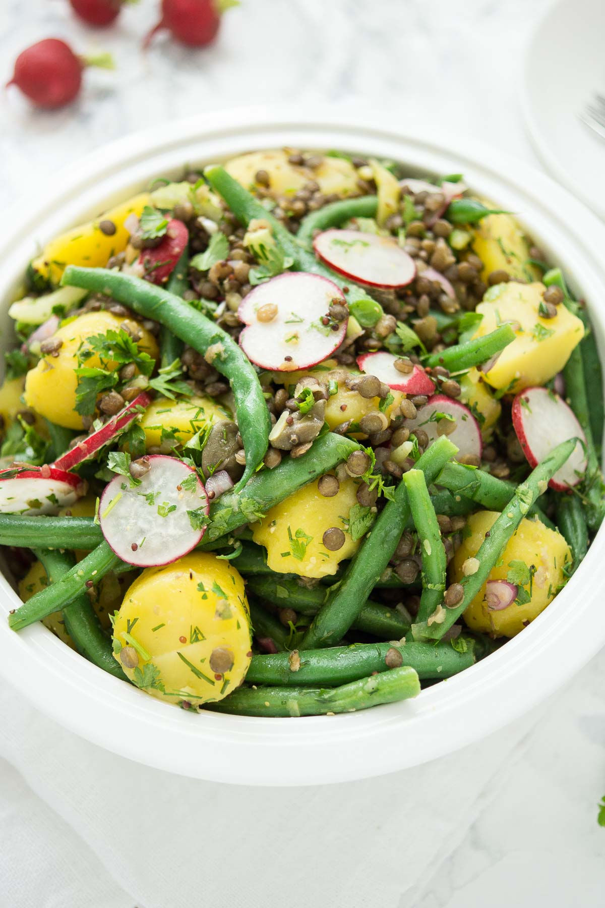 Lentil, Green Bean and Potato Salad