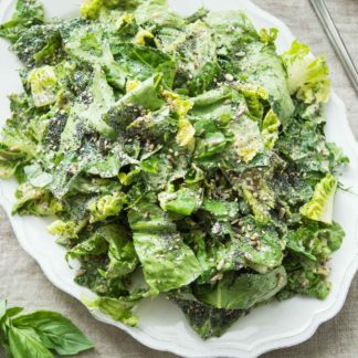 Vegan Caesar Salad with Mixed Seeds & Herbs