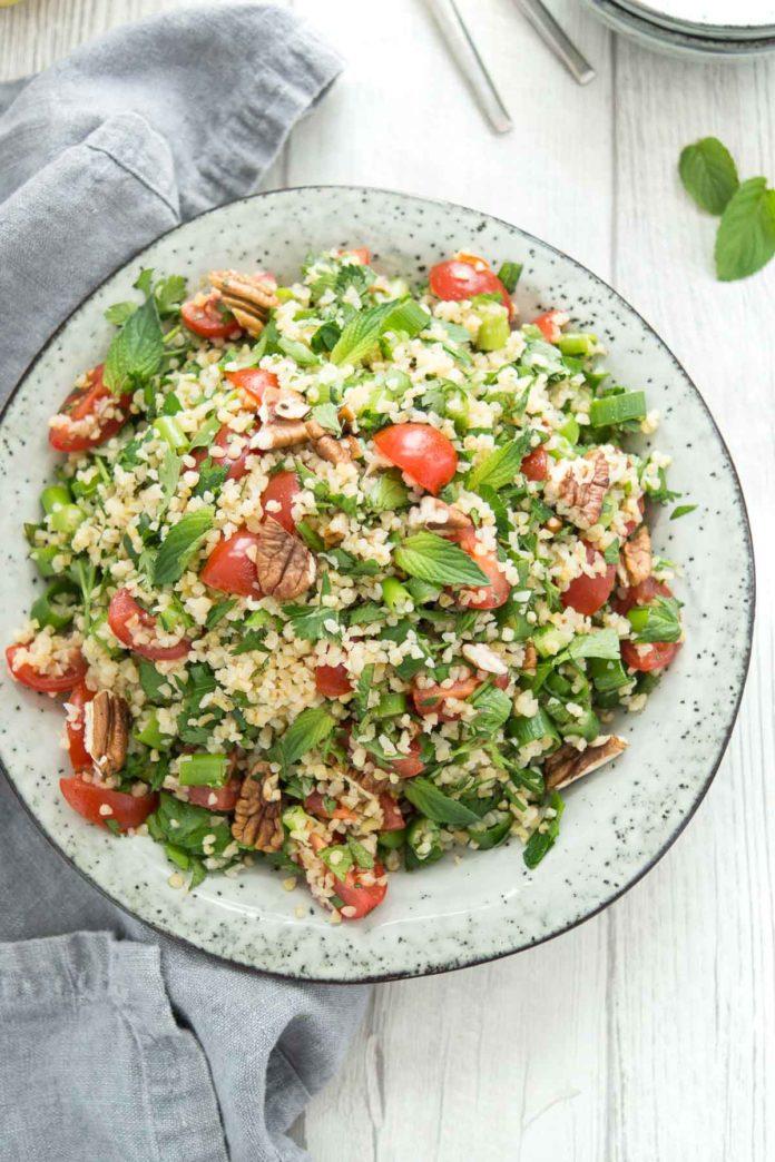 Bulgur Salad with Fresh Herbs and Lemon