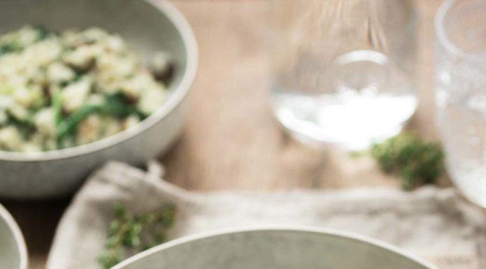 Shiitake Pilze Risotto mit Blauschimmelkäse