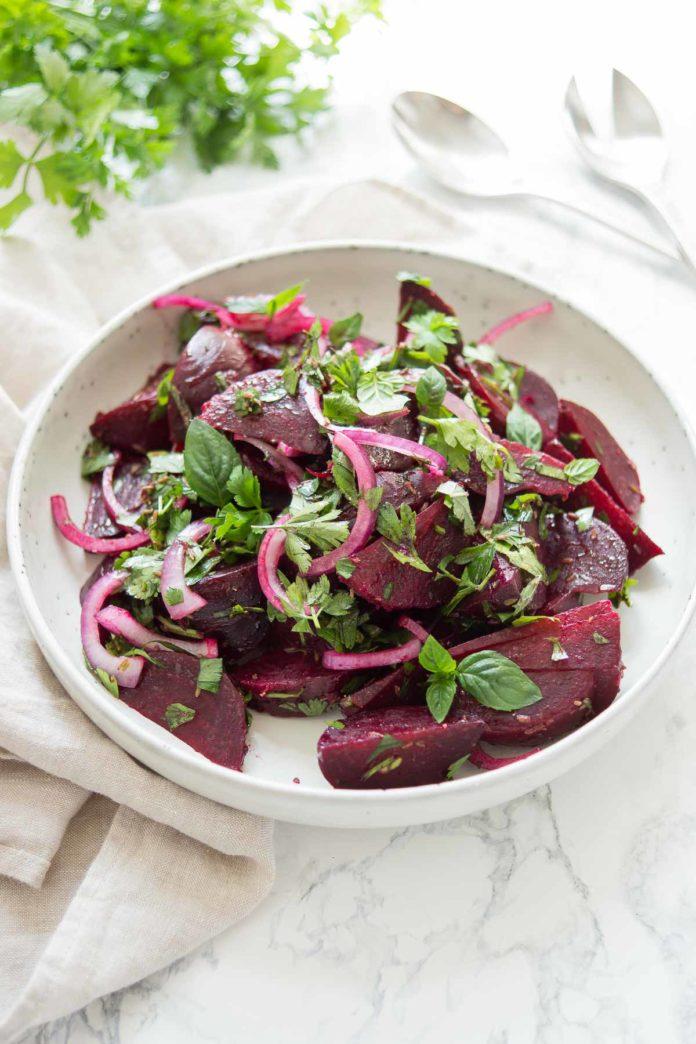 marokkanischer rote bete salat elle republic gesunde. Black Bedroom Furniture Sets. Home Design Ideas