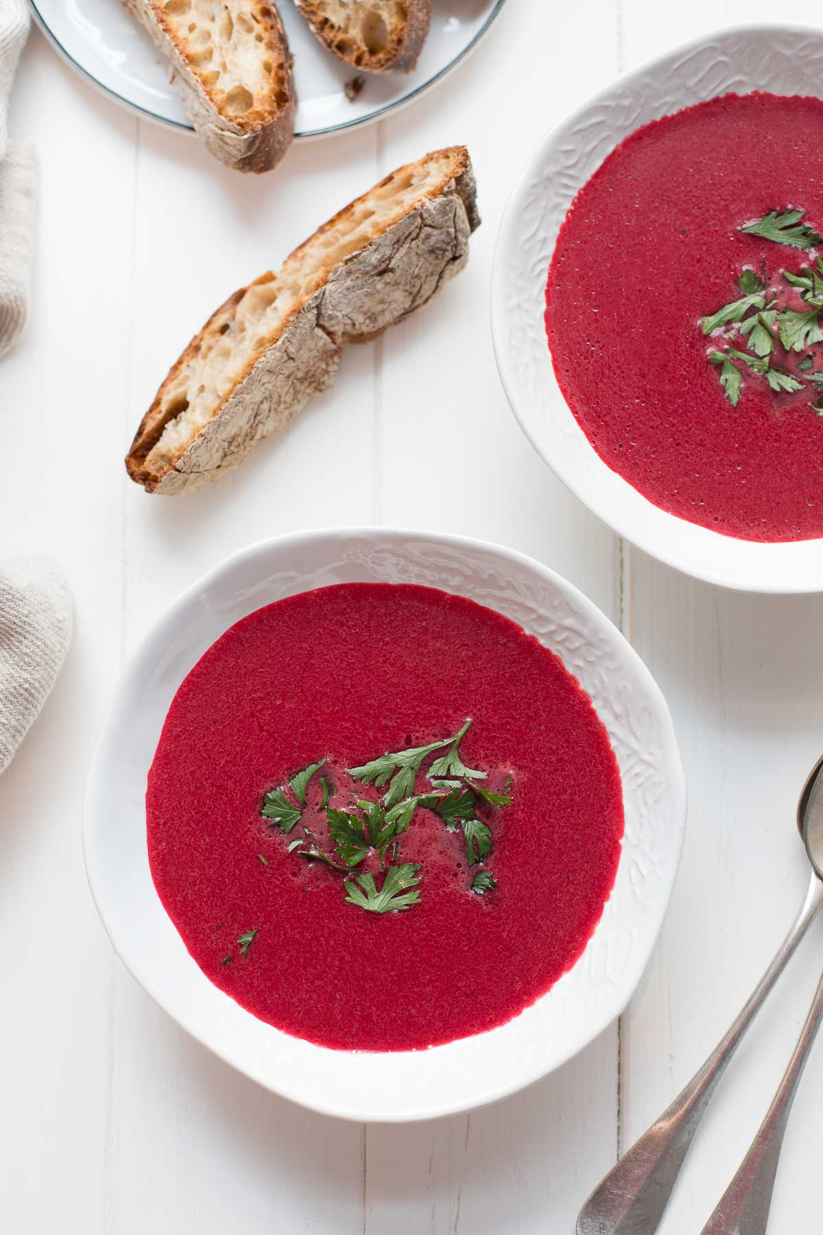 Einfache Rote-Bete-Kokos-Suppe mit Ingwer Rezept Vegan