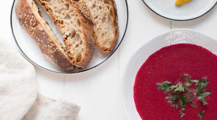 Rote-Bete-Kokos-Suppe mit Ingwer Rezept Vegan