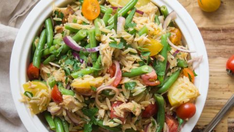 Spanischer Orzo Nudel-Salat Rezept | Elle Republic | Gesunde Rezepte