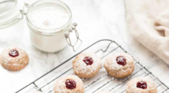 Glutenfreie Engelsaugen (Weihnachtsplätzchen Rezept)