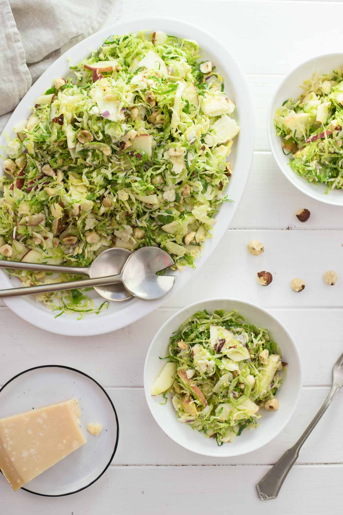 Brussels Sprouts Salad with Apples & Hazelnuts
