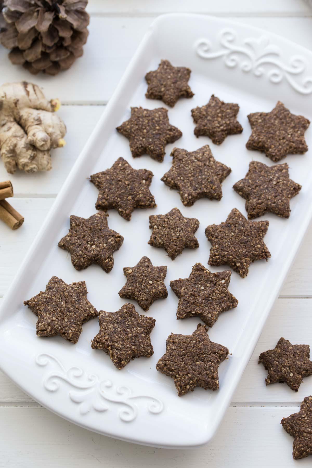 Glutenfreie Ingwer-Kekse mit Frischen Ingwer, Zimt, Ahornsirup, unraffiniertem <a href=