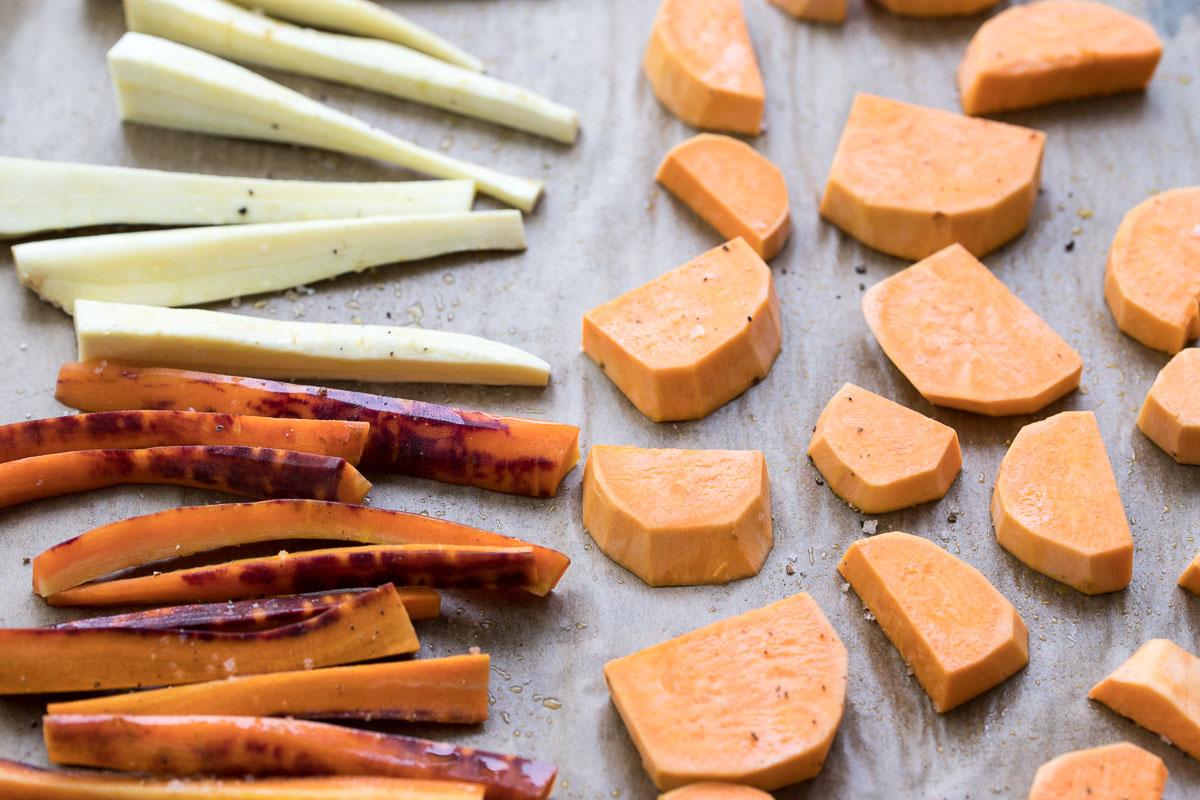 Karotten, Pastinaken & Süßkartoffeln