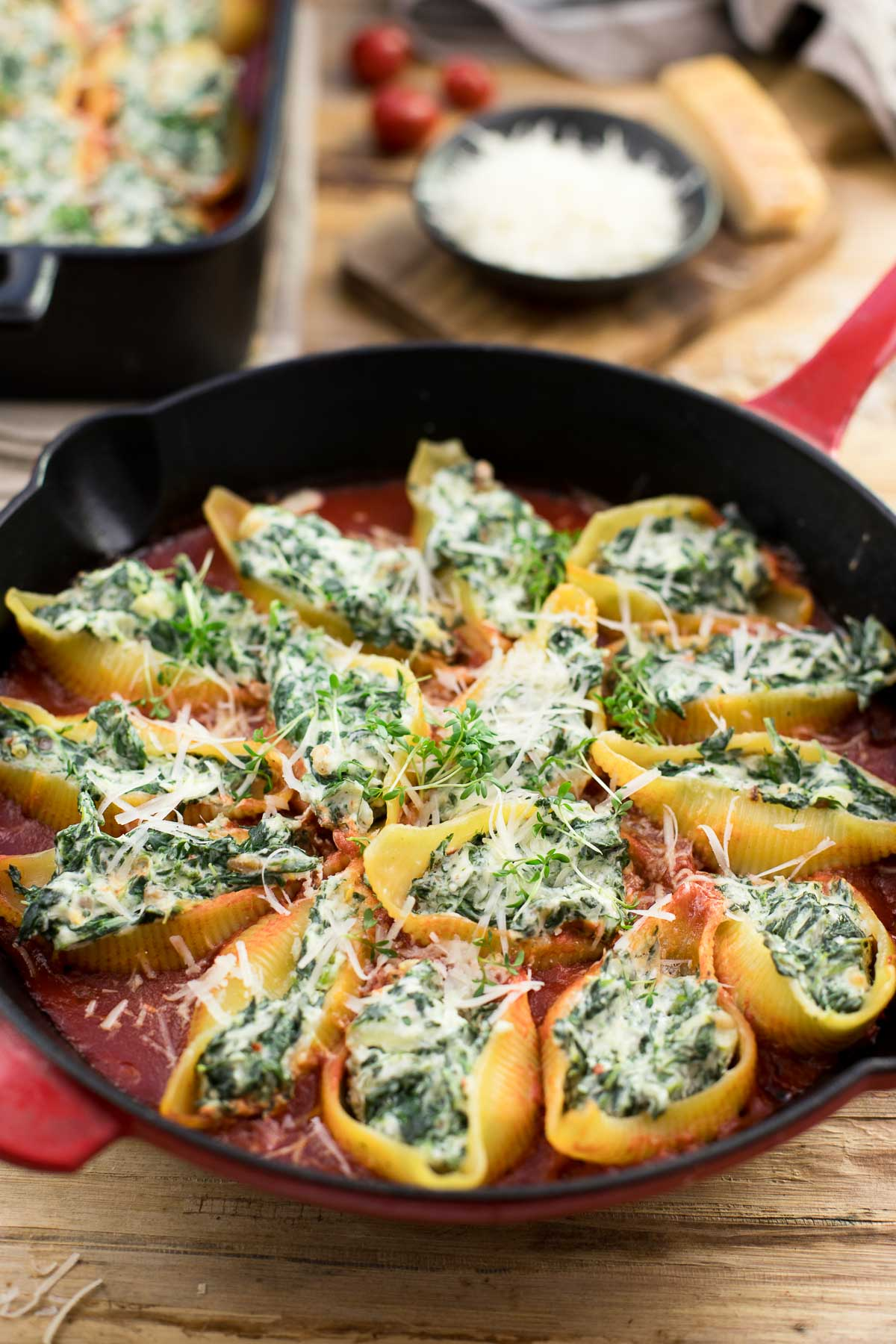 (Conchiglioni) Spinach and Ricotta Stuffed Shells