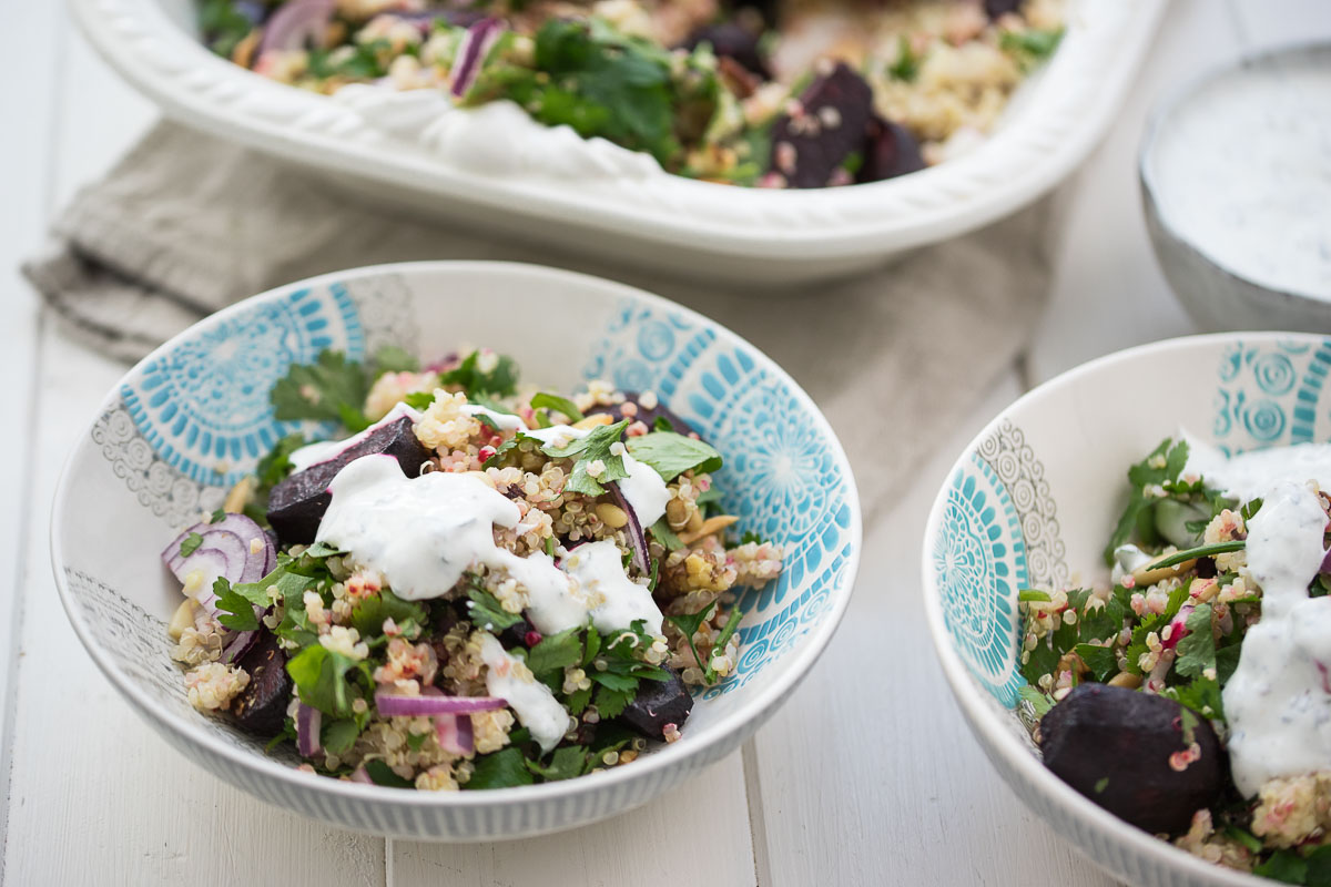 Orientalischer Rote-Bete-Salat mit Quinoa & Joghurt-Dressing Rezept