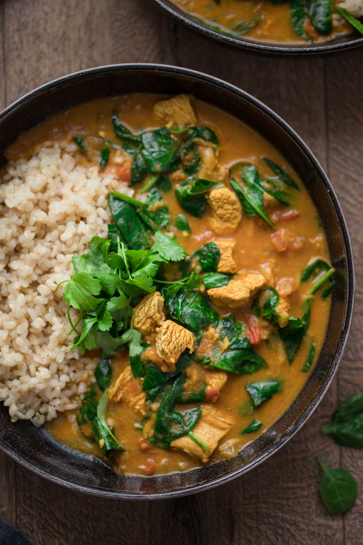 Garam Masala Curry with Turkey, Spinach and Coconut Milk