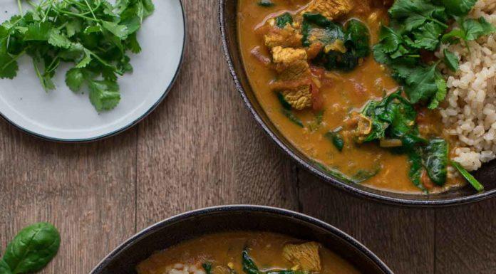 Puten-Curry mit Garam Masala, Kokos, Spinat Rezept