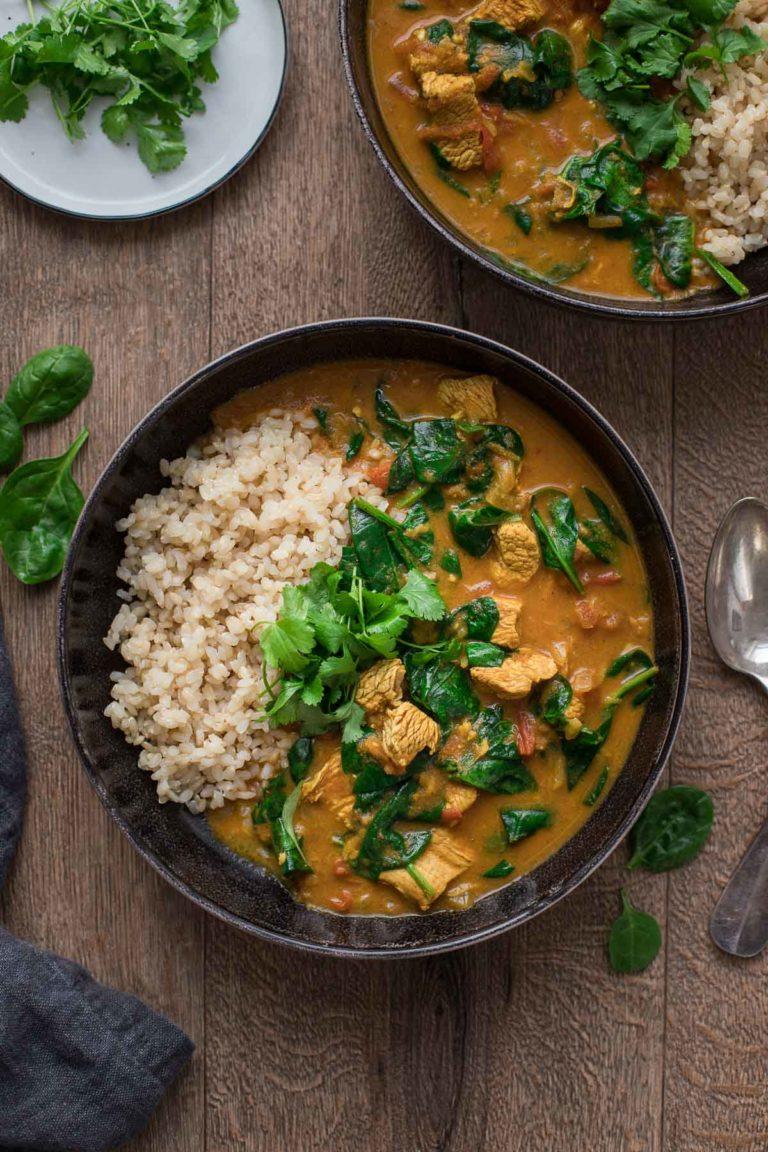 Garam Masala Curry with Turkey & Spinach