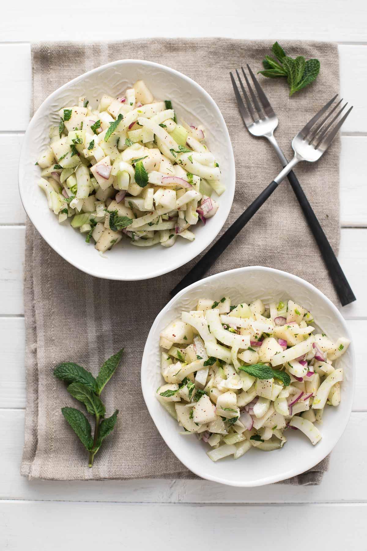 Pear Fennel Salad with Mint & Sumac