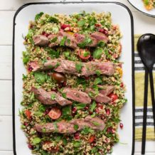 Lammfilet mit orientalischem Bulgur-Salat
