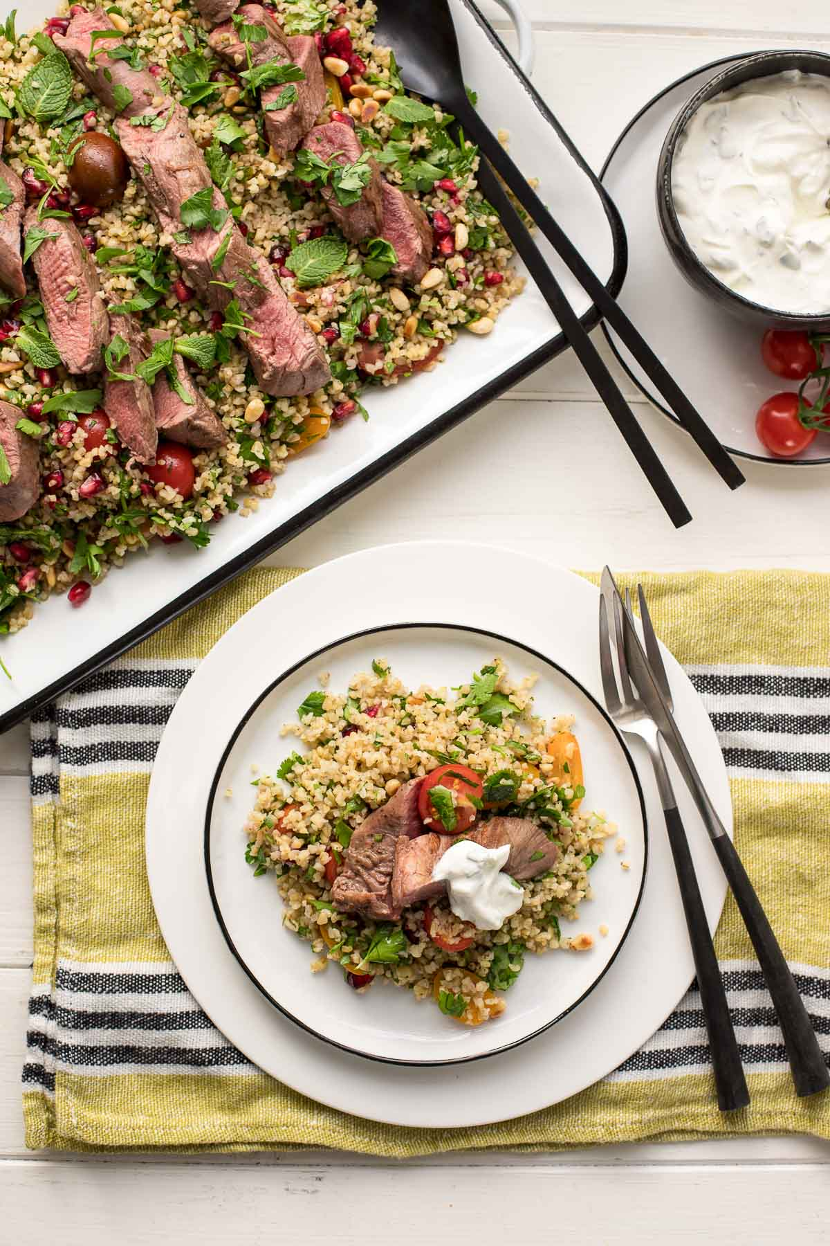 Lamb Fillet with Bulgur Salad