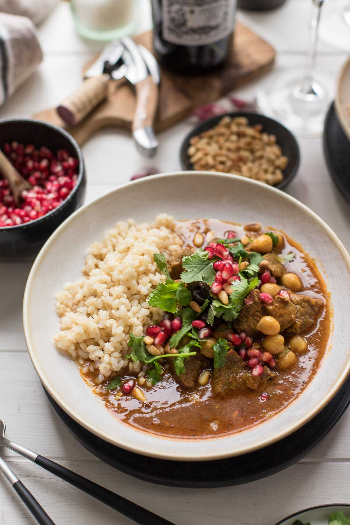 Middle Eastern Lamb Stew With Chickpeas Recipe Elle Republic