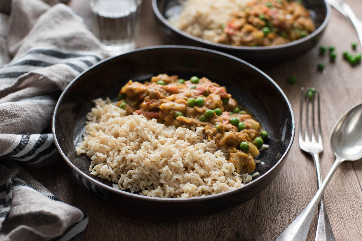 Spicy Indian Eggplant Curry