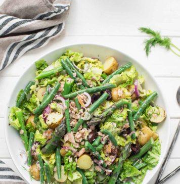 Nizza-Salat Rezept (Salade Niçoise) mit Räucherlachs