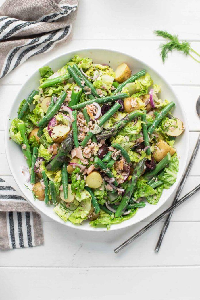 Warm Smoked Salmon Niçoise Salad