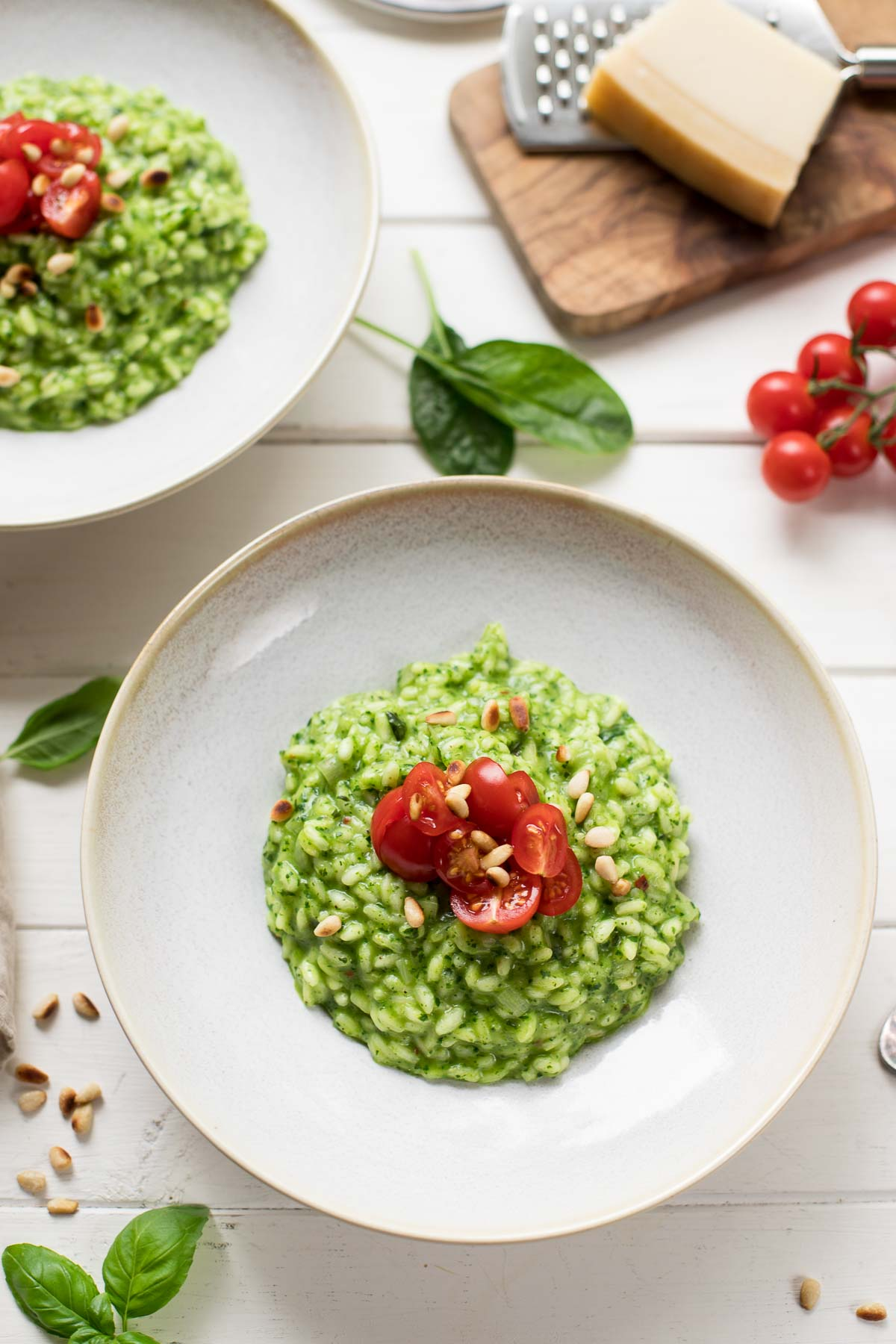 Spinach Risotto with Fresh Herbs