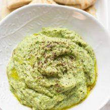 Grüner Hummus - Dicke Bohnen Dip