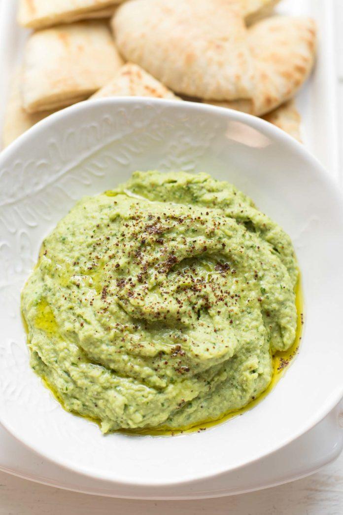 Fresh Fava Bean Dip - Green Hummus