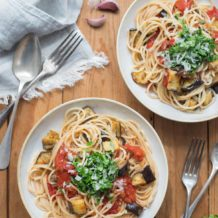 Tomaten-Auberginen-Pasta