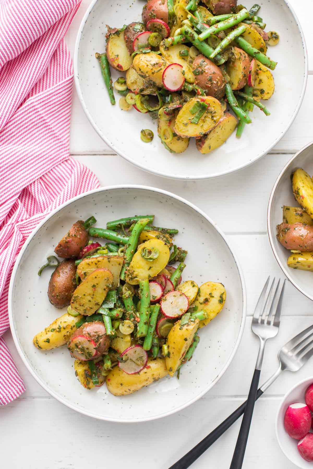 Chimichurri Potato Salad with Green Beans