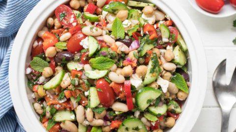 Mediterraner Bohnensalat | Rezept | einfach & schnell | Elle Republic