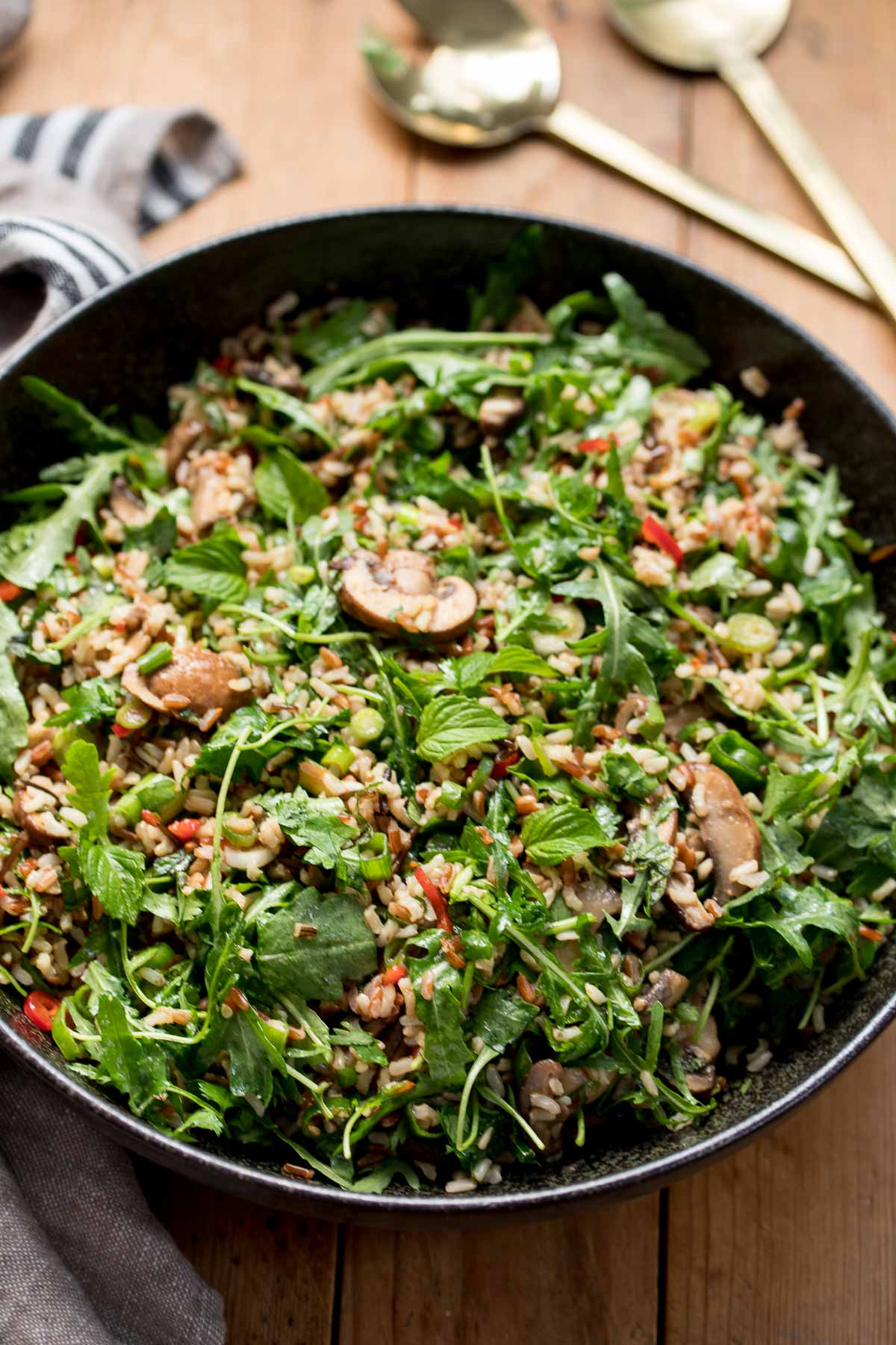 Wild Rice Salad with Mushrooms and Herbs