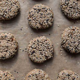Vegane Dattel Tahini Kekse Rezept / Dattelkekse mit Sesam