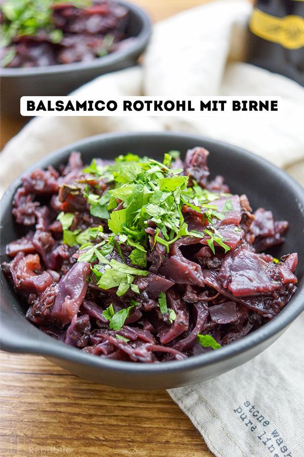 Herbst-Rezepte, Balsamico-Rotkohl mit Birne Rezept